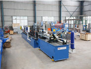 120m/min Thickness 0.6mm CU Purlin Machine With Manual Decoiler