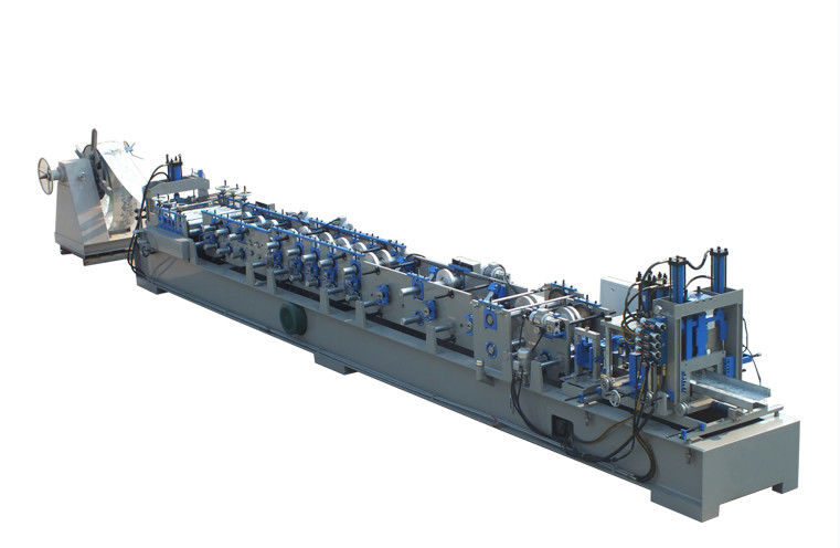 Steel Frame CZ Purlin Roll Forming Machine Low Noise PLC Computer Controlled