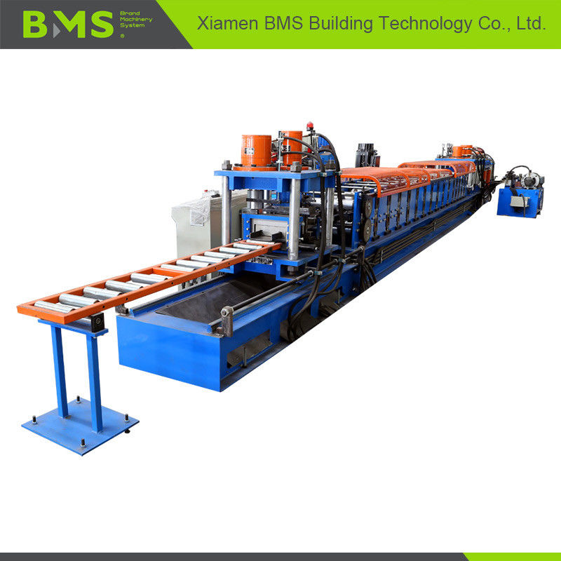 Sigma Purlin Roll Forming Machine With Manual / Hydraulic Decoiler Easy Operate