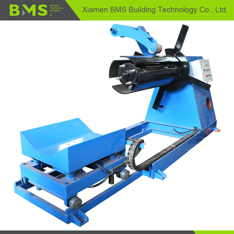 BMS 7T-1250 Hydraulic Decoiler with Coil Car and Press Arm Automatic Expand