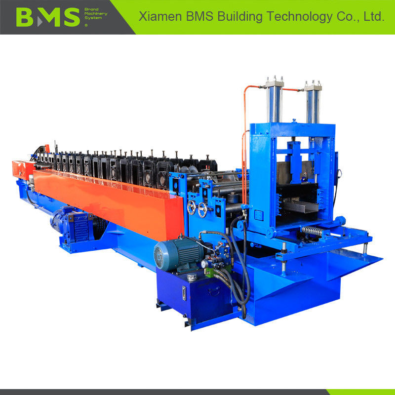 C Section Purlin Roll Forming Machine With 18 Steps Forming Station High Precision